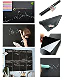 #5: House Of Quirk(45X200 Cm)Black Board Wall Sticker Removable Decal Chalkboard With 5 Free Chalks For Home School Office College Room Kitchen(Medium)