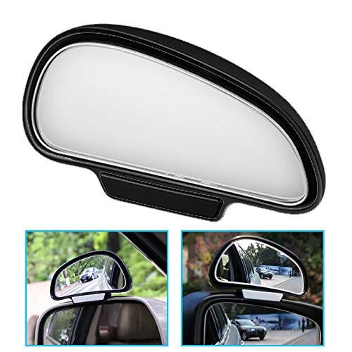 P62 TOP KFZ Auto toter Winkel Spiegel Außenspiegel Blindspiegel Fahrschulspiegel, verringert Unfallrisiko, erleichtert das Rückwertsfahren und Einparken, Passend für Autos, 110g Gewicht, Farbe Schwarz