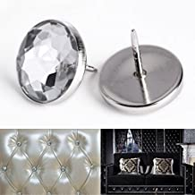 CLE DE TOUS - 100pcs Botones de cristal Rhinestone Decoración Accesorio Para PU Cuero Cabecera cama Sofá Tapicería Stud Nail Tapicería 22mm