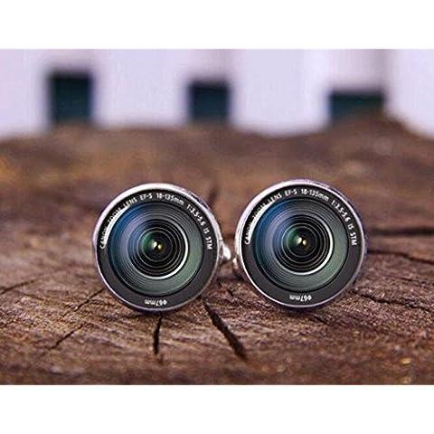 Fotocamera DSLR Lenti Gemelli, gemelli per lente, obiettivo fotocamera fotografia fotocamera clip per cravatta, gemelli, gemelli, regalo