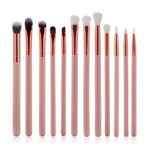 KEERADS 12Pcs Cosmetic Eyebrow Eye Shadow Brush Maquillage Brush Sets Kits Outils