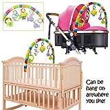 Kinderwagen-Clip, Klingel zum Aufhängen, 51 x 49 x 5 cm, Mamum-Cartoon-Baby, Musik-Bettglocke, Projektion, Spielzeug zum Aufhängen, drehbare Tier-Rasseln