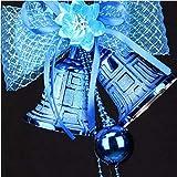 L_shop Weihnachtsbaum Glocken Anhänger Schmuck Weihnachtsdekoration Weihnachtsschmuck Lange Quaste Bell Anhänger, Papier, blau