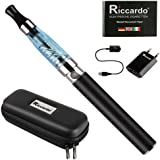 Riccardo eGo Viper Classic Starterset e-Zigarette, 650 mAh, blau, 1er Pack (1 x 1 Stück)