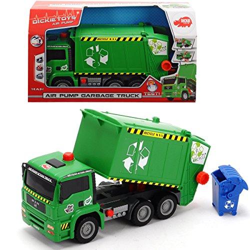 umpfunktion, inkl. Mülltonne, Freilauf, 31 cm: Müllwagen mit Funktionen Kinder Spielzeug LKW Müll Auto Müllfahrzeug (Dickie-spielzeug-müll-lkw)