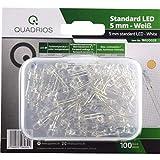 QUADRIOS - Juego de luces LED estándar, luz blanca cálida, 5 mm, diodos emisores y documentación...
