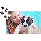 3.Rompecabezas/Puzzle con tu propia foto, texto o motivo personalizable, puzzle de foto individual con 120 piezas, aprox. 290 x 200 mm, regalo de foto personal
