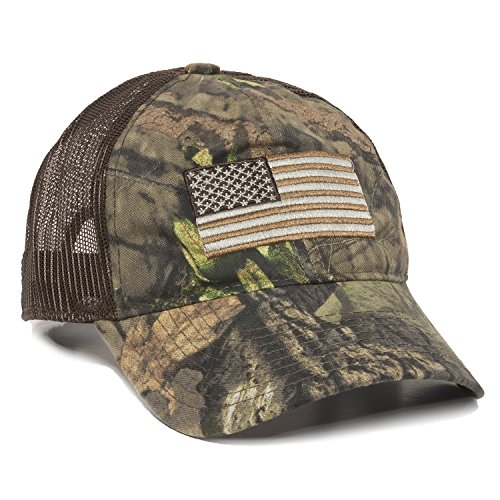 Outdoor Cap Herren Camouflage Americana Cap, One Size, Unisex-Erwachsene Herren, Mossy Oak Break-up Country/Brown, Einstellbar - Mossy Oak Camouflage Kleidung