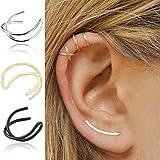 FENGLANG 5 Paar Ohr Fake Piercing Ohrklemme Lippenpiercing Doppelring Ohrstecker Ohrringe Set(Mehrfarbig-5Paar)
