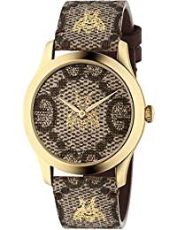 4b45e769aab Gucci YA1264068 BROWN STEEL 316 L Woman Watch