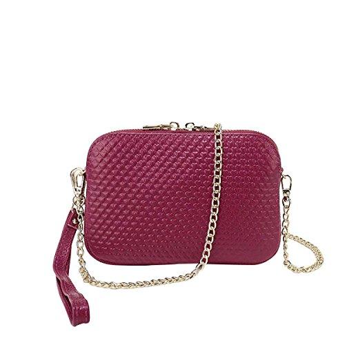 Frauen Leder Art Und Weise Beiläufige Schultertasche Kleine Quadratische Tasche A