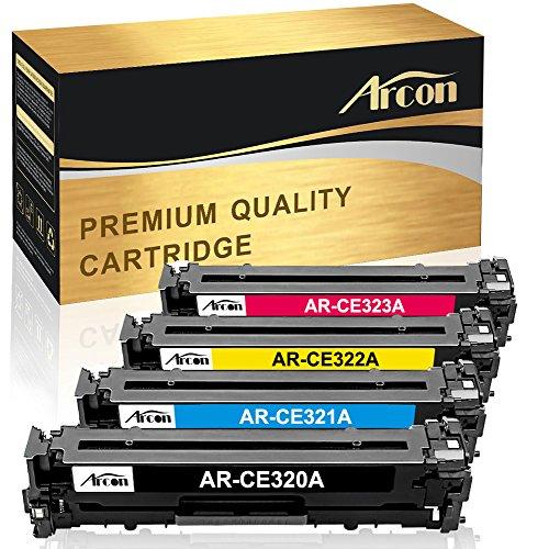 Arcon 4-Pack Kompatible Druckerpatrone für HP 128A CE320A CE321A CE322A CE323A für HP Color Laserjet Pro CP1525 CP1525N CP1525NW;HP Laserjet Pro CM1415 CM1415FN CM1415FNW MFP Tonerkartusche