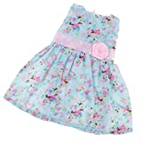 MagiDeal Floral Sleeveless Party Dress Outfit Clothes For 18'' American Girl AG Doll Accessories