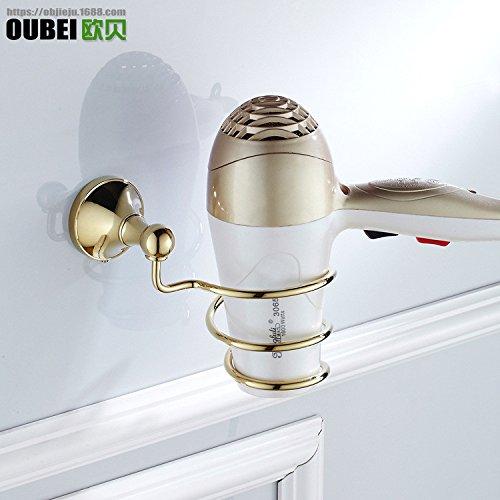 ETmla Neue europäischen Stil einfache Badezimmer Zubehör verkupfert europäischen Stil Haartrockner Rack Haar Fön Lagerregal -