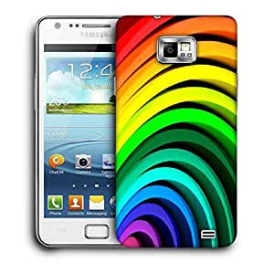 Snoogg Multiple Colors Strips Printed Protective Phone Back Case Cover For Samsung Galaxy S2 / S II
