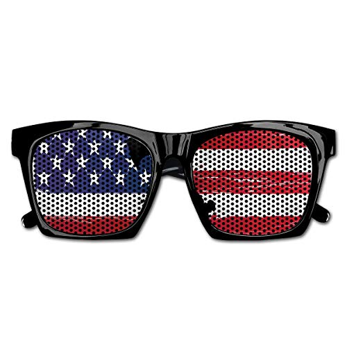 EELKKO Mesh Sunglasses Sports Polarized, Bless America Silhouettes of American USA Flag Background Valor Patriot Theme,Fun Props Party Favors Gift Unisex