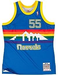 Dikembe Mutombo Denver Nuggets Mitchell & Ness Authentic 1991 Blue NBA Jersey Maillot