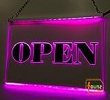 LED Werbeschild, faunz Leuchtschild, Hinweisschild