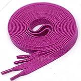 LACCICO Finest Waxed Laces 6 mm breite flache gewachste Schnürsenkel; Farbe: Magenta , Länge: 120 cm