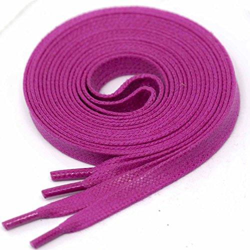 LACCICO® Magenta Flach 6 mm 'Cerato' Gewachste Schnürsenkel, Farbe:Magenta;Länge:150 cm