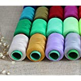 Generic Random color : 8pieces rainbow spun polyester threads Overlocking Sewing Machine Thread Yarn for knitting polyester sewing kit overlock t4