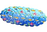 YiLianDa Mehrzweck-Badematte PVC-Material Wanne Matte Nicht Beleg Matten für Kinder Dusche Badezimmer-Sicherheit Muster Seestern