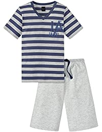 Schiesser Jungen Zweiteiliger Schlafanzug Teens Anzug Kurz