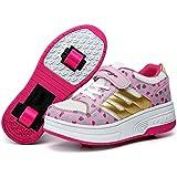 Kid Mujeres Hombres Doble Ruedas para patines zapatos zapatillas deportivas retráctil Dots