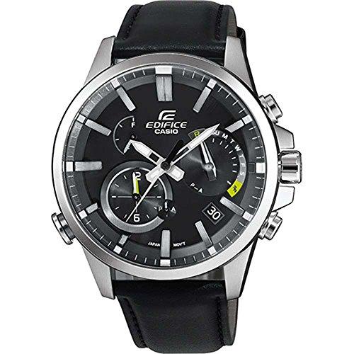 b2eb8daf93d6 Casio Reloj Cronógrafo para Hombre de Energía Solar con Correa en Cuero EQB -700L-