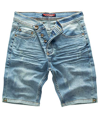 Rock Creek Herren Shorts Jeansshorts Denim Short Kurze Hose Herrenshorts Jeans Sommer Hose Stretch Bermuda Hose Hellblau RC-2201 Lightblue W36 - Herren-rock