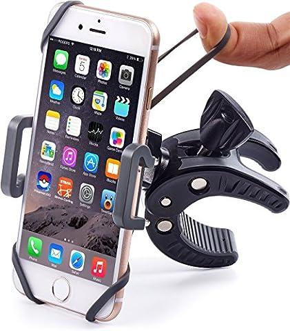 FTLL Handyhalterung Fahrrad,Smartphone Handyhalter Fahrrad Verstellbar für iPhone 5 5s 6/ 6s plus iphone 7/7 plus Samsung Galaxy S4/5/6/7/C5/7/A3/7/5/9 Edge Note 4/5/6/7 (schwarz)