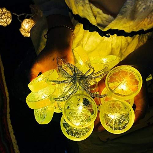 LED-Lichterkette, 20 LEDs, 3 m, Zitronen-Glühbirne, dekorativ, Gelb 3M Gelb warm (Zitrone Glühbirne)