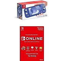 Console Nintendo Switch Lite Bleu + Nintendo Switch Online - Abonnement 12 Mois (Code de téléchargement)
