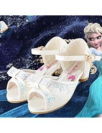 Wuyulunbi@ Las Niñas Wedding Shoes Verano Otoño Comfort Novedad Flor Chica Zapatos Glitter Polipiel Boda Vestido De Noche Y Casual Talón Plano,Blanca,Us5.5 / Ue37 / Uk4.5 Niños Grandes