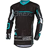 O'Neal Element Zen Motocross Jersey MX Enduro MTB DH Cross Trikot Mountain Bike Gelände, 001E-0Adult, Farbe Petrol, Größe XL