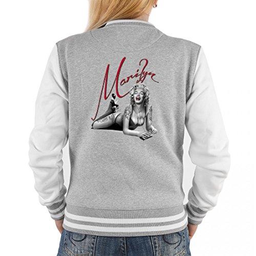 College Jacke für Damen - Schönheit liegend - Cooles Outfit oder Geschenk Idee für Marilyn Monroe Fans, (Ideen Marilyn Monroe Outfit)