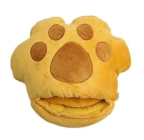 Blancho bedding cuscinetto riscaldante scaldapiedi riscaldato usb con zampa simpatico cartone animato, giallo