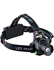 Linterna LED Frontal de VicTsing, Linterna Frontal Cabeza Impermeable LED de 1000 Lumens con Pilas Recargables para Camping / Pesca / Ciclismo / Carrera / Caza