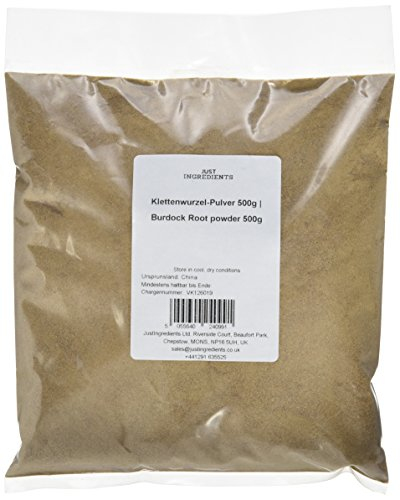 JustIngredients Klettenwurzel-Pulver, Burdock Root powder, 1er Pack (1 x 500 g)
