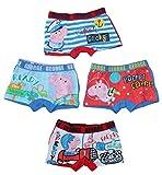 Peppa Pig Wutz Jungen Unterwäsche Boxer Shorts 4er Set