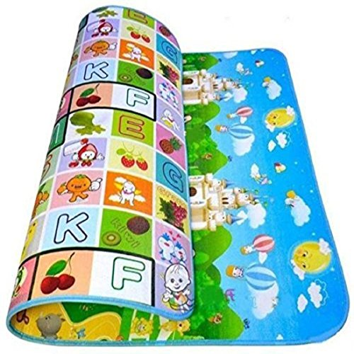 Portable Kids Play Mat and Foam Floor Gym with Beautiful Graphics and Adorable Animal Friends - Portable for Outdoor Or Indoor Use