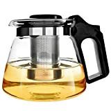 Glass Teapot with Infuser XAGOO Glass Teapots Large 1500 ml, Blooming and Loose