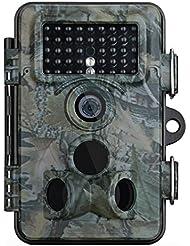 Wildkamera, Vtin 2.4 Zoll LCD, 12MP 1080PHD, IP66 Wasserdichte Wild Camo mit 120 Grad Weitwinkel, Low Glow Infrarot Fotofalle SnapShot Jagd Kamera, Jagdzeug, Überwachungskamera für Nacht Vision
