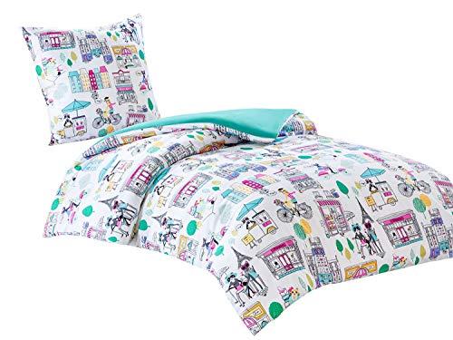 Kinder Bettwäsche Set mit Katze Mikrofaser 2-teilig Bettbezug 135x200cm Kissenbezug Ideal für Kinderzimmer PACO