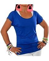 G003 Damen Longshirt 2 in 1 Shirt Tunika Bluse Pullover T-Shirt Tank Top