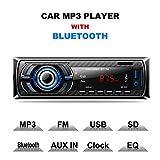 Lling(TM) - Receptor de radio para coche, estéreo, función FM, reproductor MP3, con Bluetooth, USB, SD, AUX,...