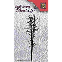 """Nellie Snellen SIL009 Silhouette Clear Stamps """"tree-3"""" (3,3x9,5cm)"""