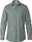 LIVERGY® Herren Trachtenhemd (dunkelgrün/weiß - kariert, Gr. XXL - 45/46)