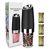 Electric Salt and Pepper Grinder Stainless Steel Pepper and Salt Mill with Blue