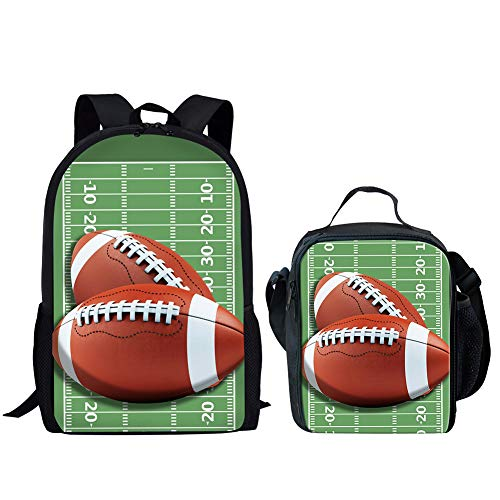 Kleine Jungen Rugby (POLERO Rugby Football Lunch Box gedruckt Kleine Jungen Leichte Nahrungsmittelbehälter-Schulter-Beutel 2 Stück (GRÜN))